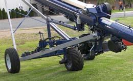 "The size and weight of this 10""diameter auger range requires the hydraulic wheel drive and lift to be supplied standard for the ease of driving them around and moving them into position."